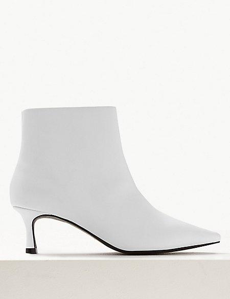 Wide Fit Kitten Heel Ankle Boots