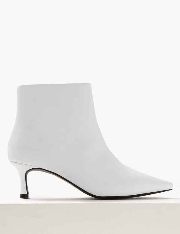 Wide Fit Kitten Heel Ankle Boots 55d8d1cc78