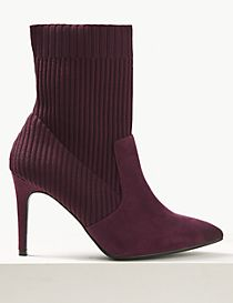 Wide Fit Stiletto Heel Ankle Boots
