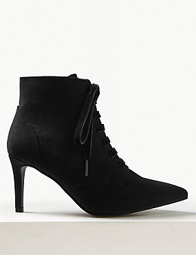 Extra Wide Fit Stiletto Heel Ankle Boots
