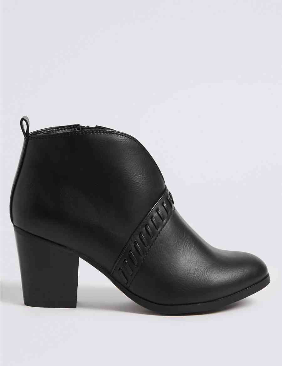 ef7862d5775 Extra Wide Fit Block Heel Ankle Boots