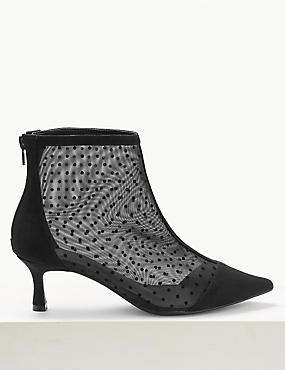 Wide Fit Kitten Heel Ankle Boots