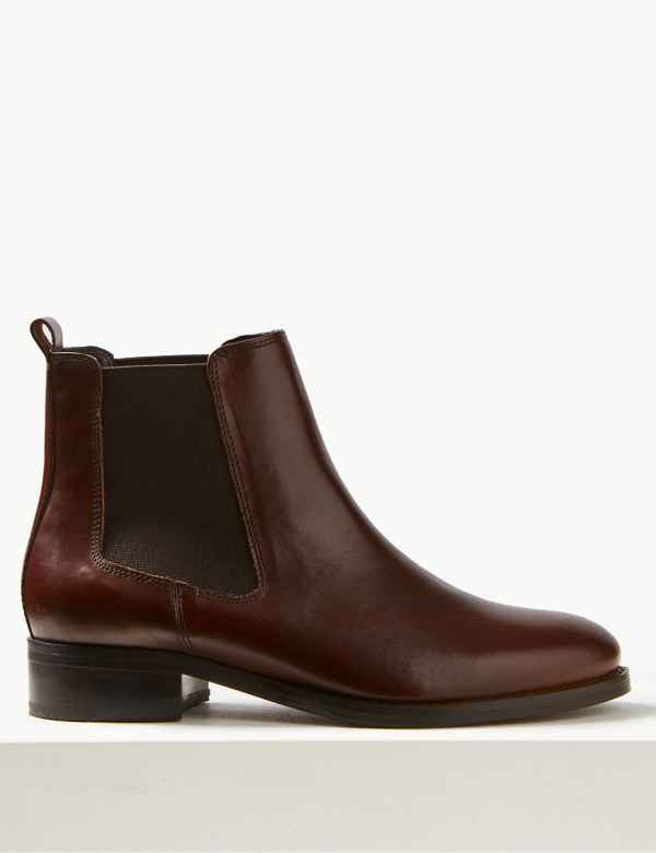 7b7c59f1eb9 Leather Chelsea Ankle Boots