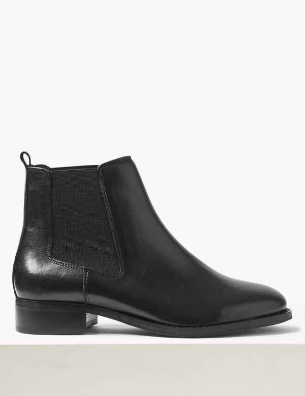 d8ff9647e3 Leather Chelsea Ankle Boots