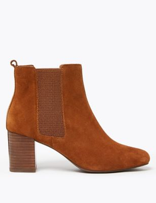 Suede Almond Toe Ankle Boots by Marks & Spencer
