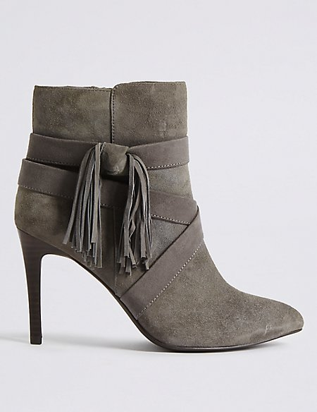 Marks and Spencer Suede Chelsea Boots grey