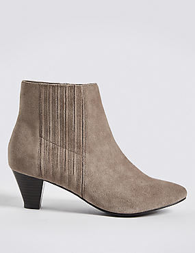 Covered Elastic Ankle Boots