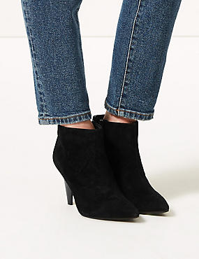 Suede Smart Point Ankle Boots