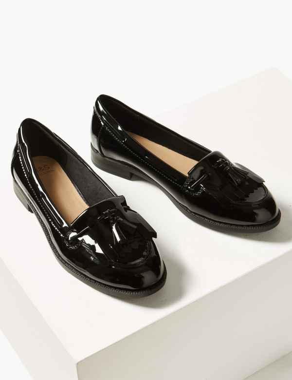 729b473b1 Patent Tassel Loafers | M&S Collection | M&S