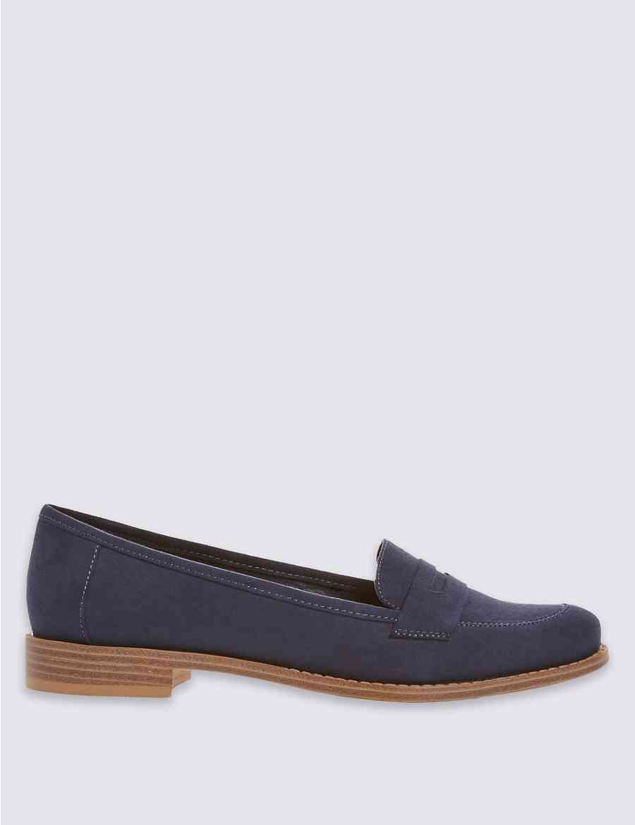 7f420d006ff Product images. Skip Carousel. Flat Faux Suede Penny Loafer