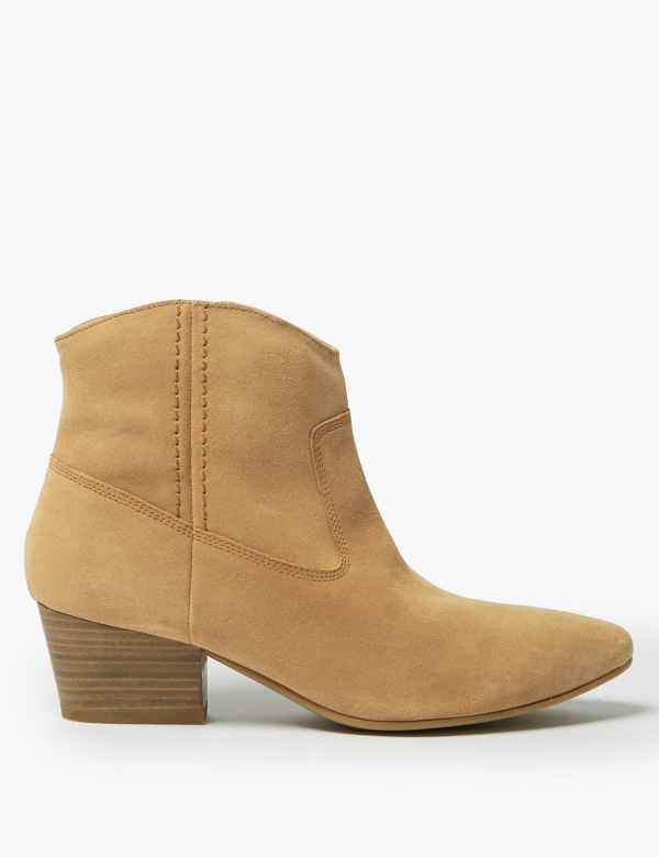 15229682f43 Womens Block Heel Shoes & Boots| M&S