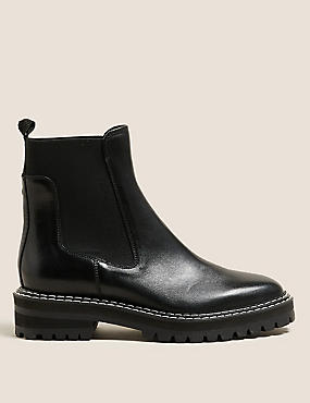The Chunky Leather Chelsea Boots