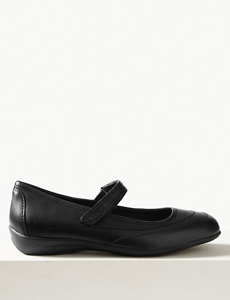 Leather Cut Out Dolly Pump Shoes