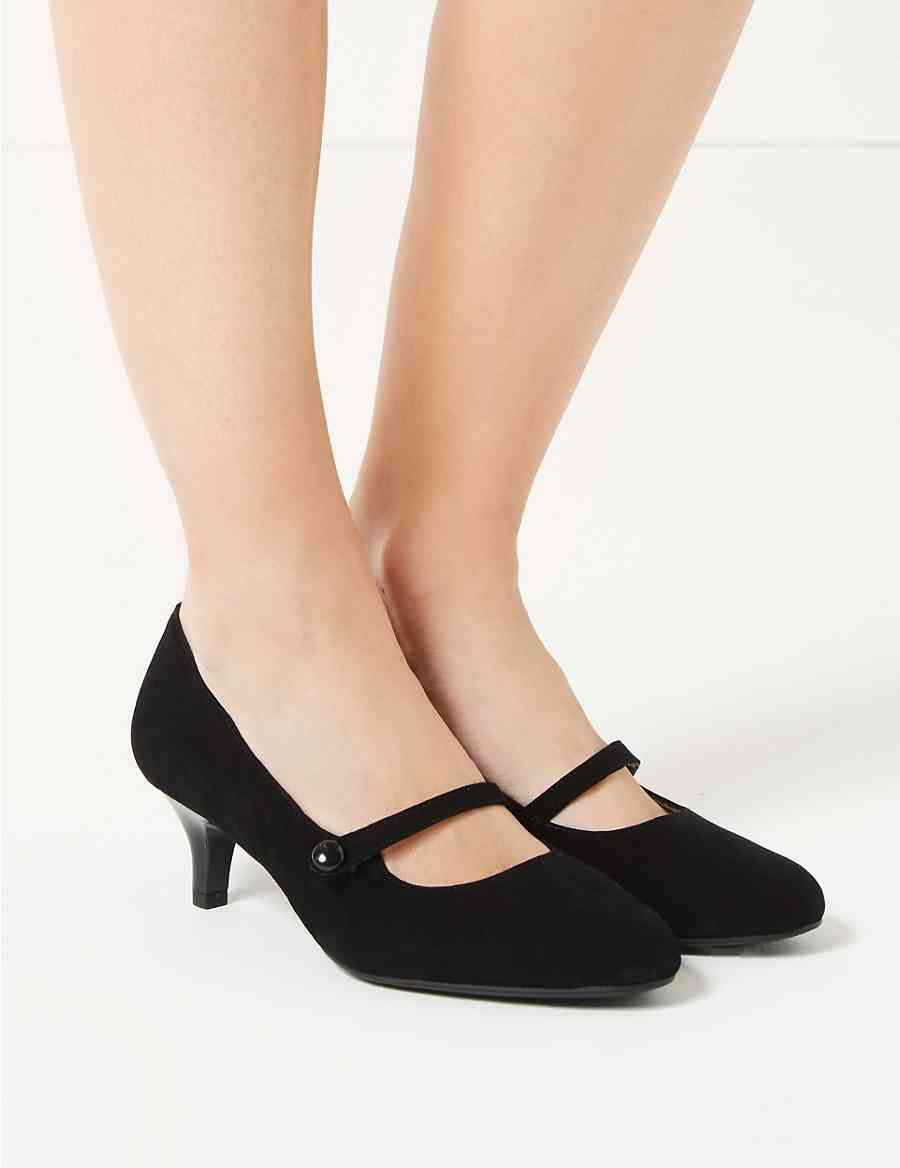 d18686bb7541 Wide Fit Suede Kitten Heel Court Shoes