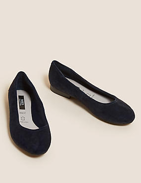 Wide Fit Suede Ballet Pumps