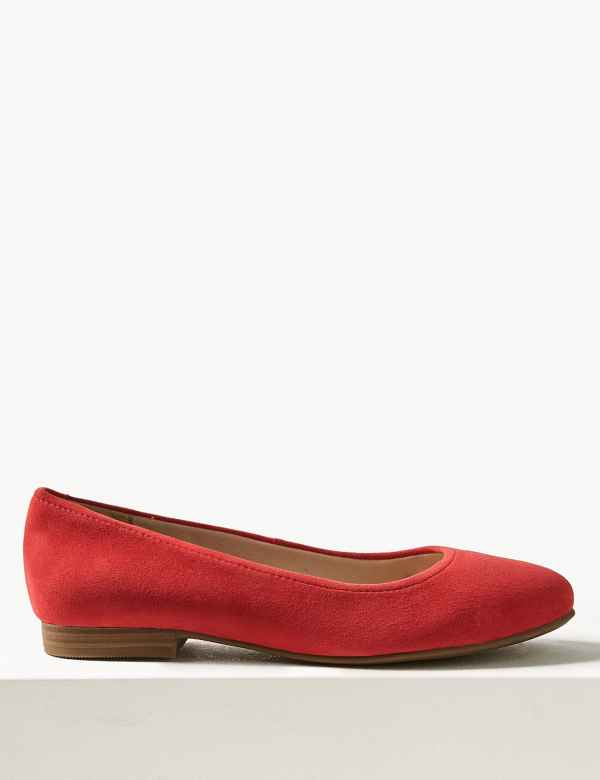 36772fbbd21 Wide Fit Suede Round Toe Pumps