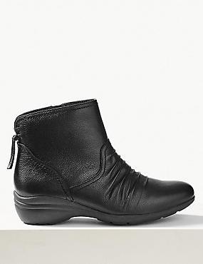 Marks & Spencer Ladies Black Mid-Calf Mid Heeled Boots UK Size 5