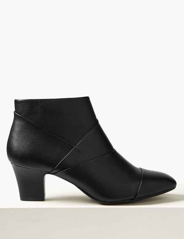 1188405b6c74 Leather Square Toe Ankle Boots