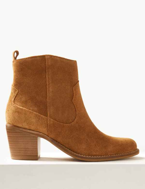 ae760c09cba Suede Western Ankle Boots. Holly s Must-Have