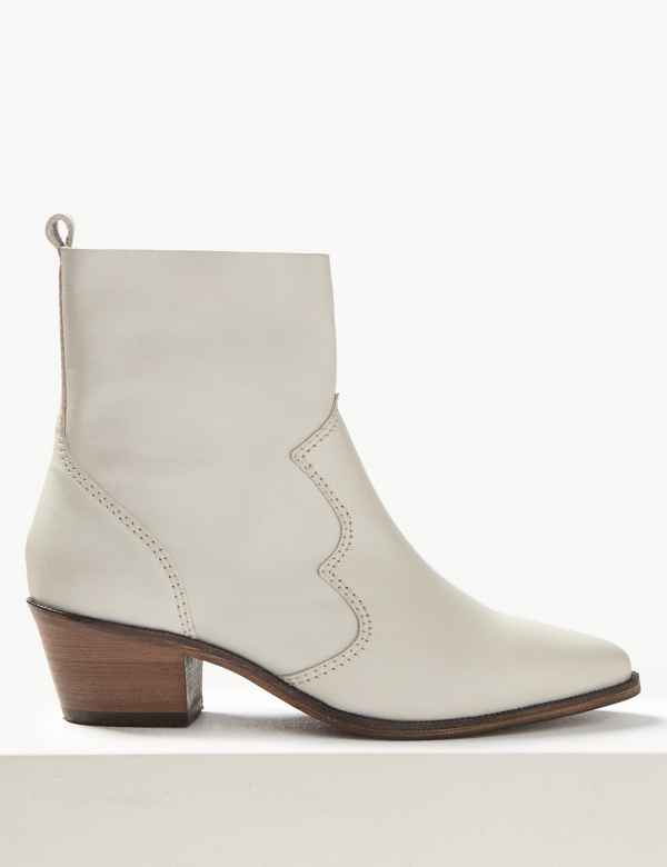 womens white ankle cowboy boots