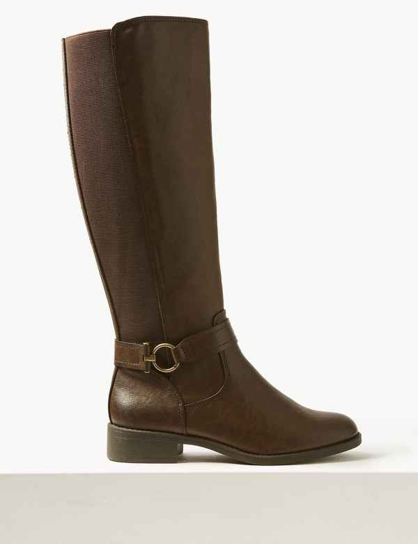 842b3bb5e01 Elastic Back Rider Knee Boots