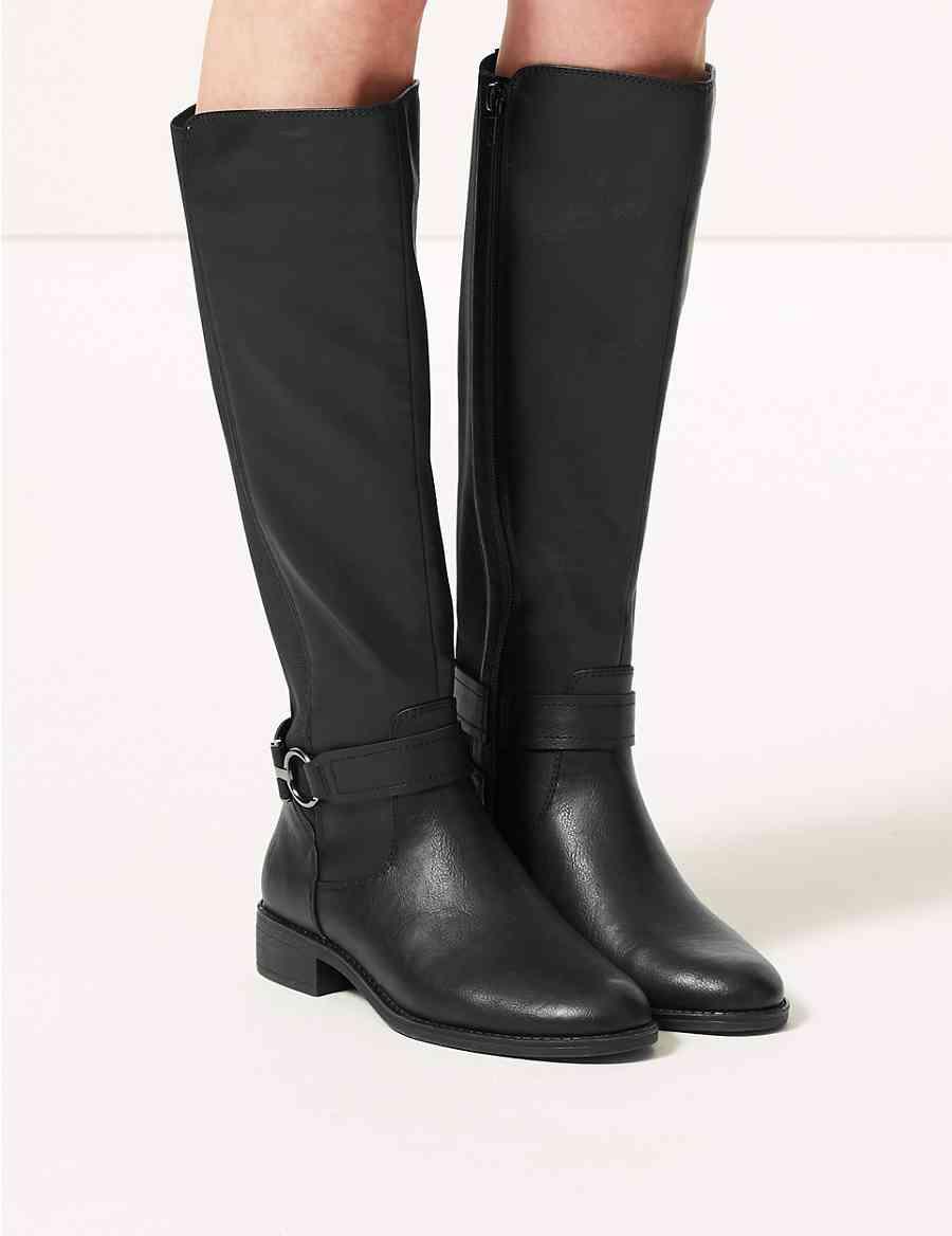 a2037ec5b4c Elastic Back Rider Knee Boots