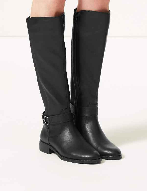e935269f9a6 Elastic Back Rider Knee Boots. M S Collection