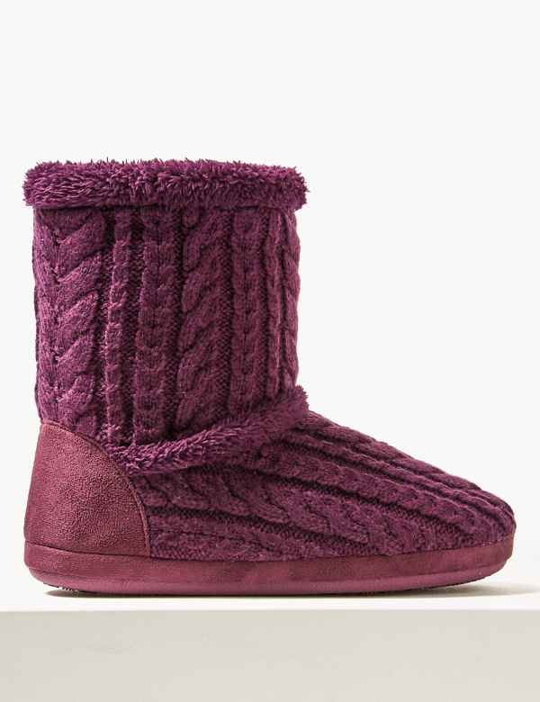 c10bf399d Slipper boots | Womens Slippers | M&S