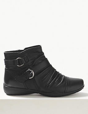 Extra Wide FitLeather Ankle Boots