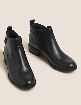 حذاء طويل الرقبة حتى الكاحل بنعل مسطح
