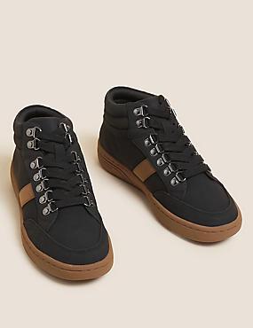 حذاء طويل الرقبة رياضي بطول الكاحل برباط