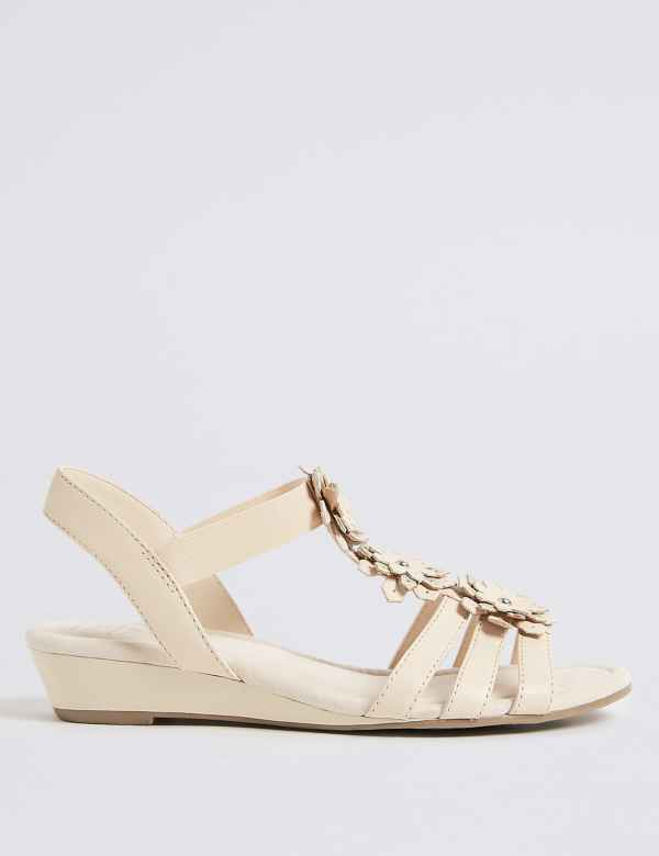 06f3b7ae14f Wide Fit Leather Flower Sandals
