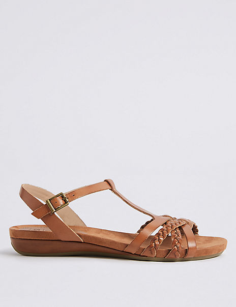 Wide Fit Leather Gladiator Sandals