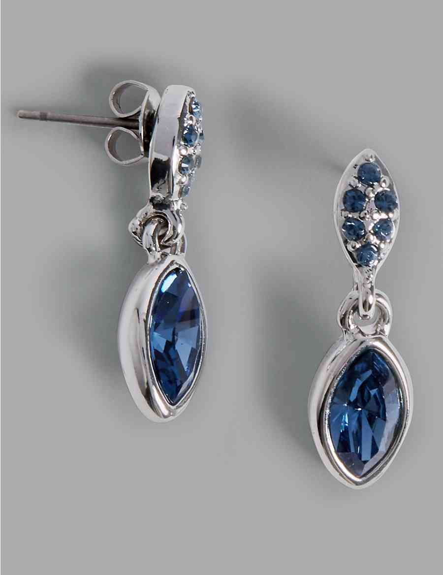 Pavé Drop Earrings with Swarovski® Crystals  5c30cdd1f2