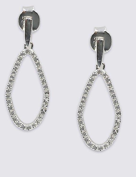 Sterling Silver Organic Shape Earrings