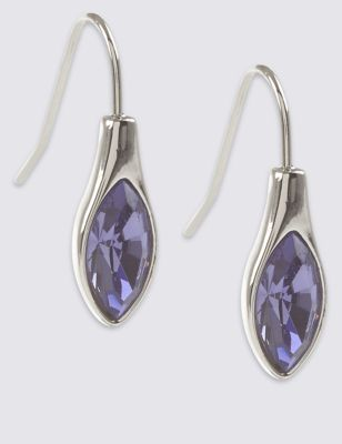 Teardrop Earrings With Swarovski 174 Crystals M Amp S