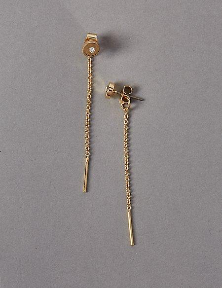 Diamanté Refined Dot Disc Earrings