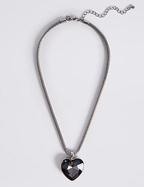 Glass Heart Pendant Necklace