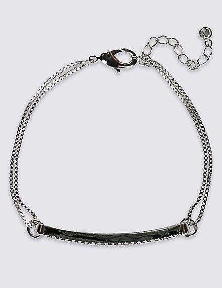 Pavé Bar Plaited Bracelet
