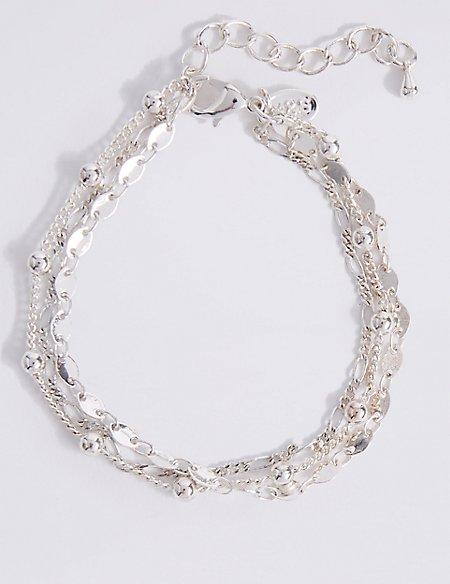 Silver Plated Bead Bracelet