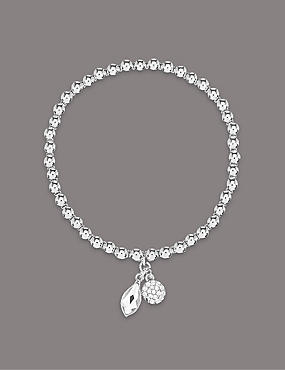 Charm Bracelet With Swarovski® Crystals