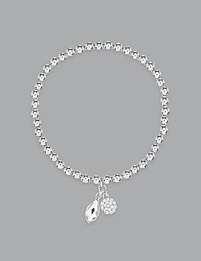 Charm Bracelet With Swarovski® Crystals