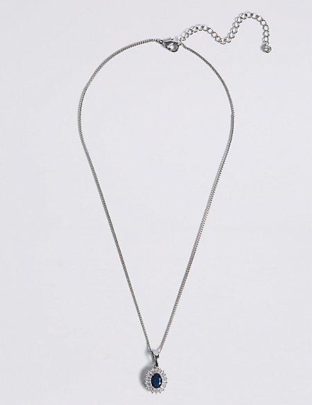 Platinum Plated Baguette Regal Necklace