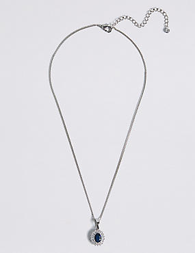 Platinum Plated Baguette Regal Necklace