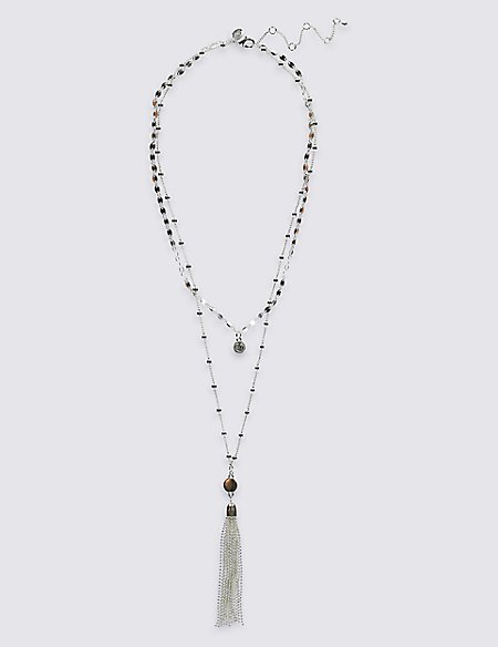 Silver Plated Tassel Necklace