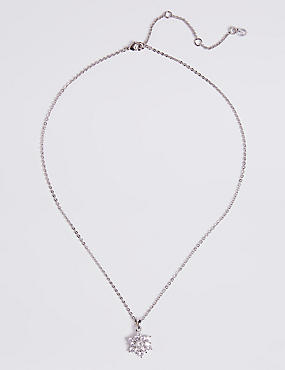 Platinum Plated Sparkle Star Necklace