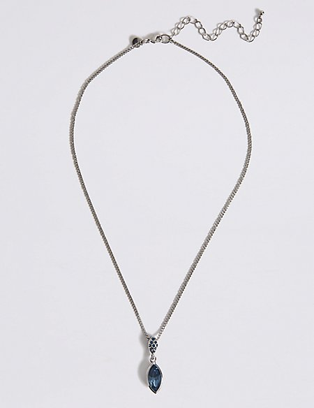 Pavé Navette Drop Necklace MADE WITH SWAROVSKI® ELEMENTS