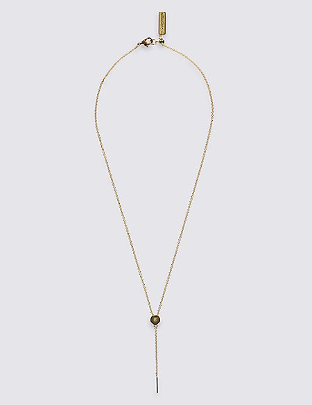Refined Dot Y Necklace