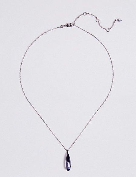 Tear Drop Necklace with Swarovski® Crystals