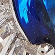 Poplatinovaný prsten svelkým umělým drahokamem, MODRÁ MIX, swatch